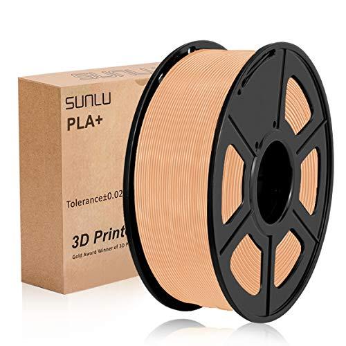SUNLU 3D Printer Filament PLA Plus, Tangle Free PLA Plus Filament 1.75 mm, Low Odor Dimensional Accuracy +/- 0.02 mm, 3D Printing Filament,2.2 LBS (1KG) Spool for 3D Printers & 3D Pens,Skin …