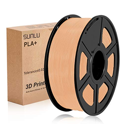 SUNLU 3D Printer Filament PLA Plus, Tangle Free PLA Plus Filament 1.75 mm, Low Odor Dimensional Accuracy +/- 0.02 mm, 3D Printing Filament,2.2 LBS (1KG) Spool for 3D Printers & 3D Pens,Skin …