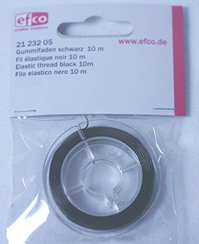 Gummifaden schwarz 0,5mm 10m