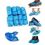 Einweg-Schuhüberzieher – 50 Paar – Blau, Einheitsgröße, rutschfest, wasserdicht. 3 g Stärke, 100 Stück