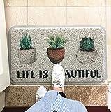 FHC esteras de Polvo de alfombras, moquetas un asa de Alambre, una Cocina y una Entrada de Deslizamiento de la Alfombra Alfombra de baño de Retirada,4,60cmx90cm