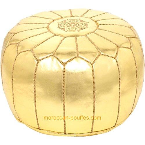 puff dorado de la marca moroccan poufs