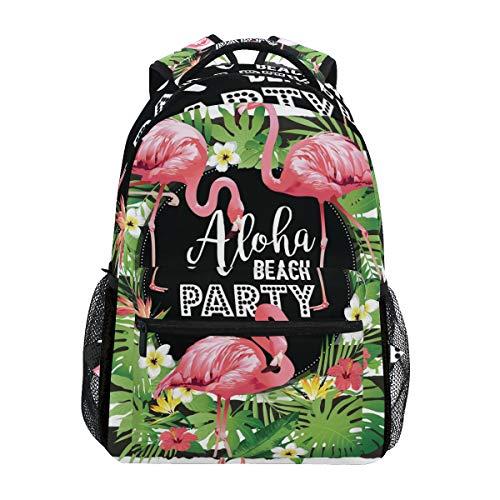 Zaino di Aloha Beach Party Flamingo School per Ragazzi Ragazze Borsone da viaggio