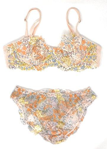 Victoria's Secret Dream Angels Wicked Uplift Bra and Cheekini Panty Set Gold Earth 34D Medium