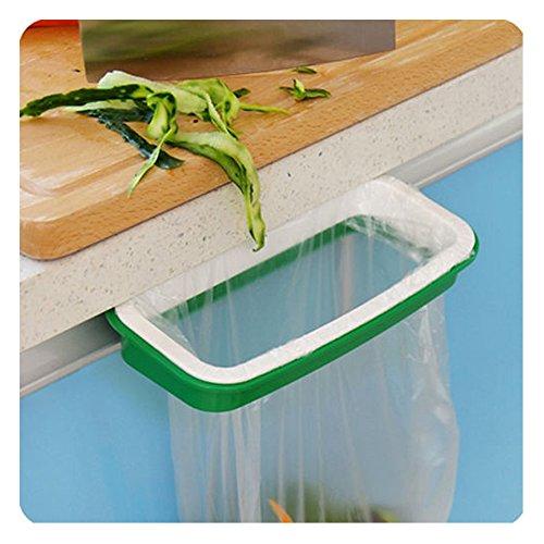 Soporte para bolsa de basura para puerta de armario de cocina para colgar bolsas para basura accesorio de