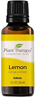 Plant Therapy Lemon Essential Oil 30 mL (1 oz) 100% Pure, Undiluted, Natural Aromatherapy, Therapeutic Grade