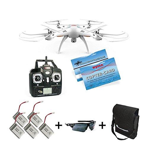 Quadrocopter FPV Drohne Quadcopter mit Live Kamera ORIGINAL SYMA X5SW UPGRADE RC WiFi Live FPV Videoübertragung Real-time Kamera für Smart Phone IOS Android Headless Mode 30cm UFO ferngesteuert 2,4 GHz RTF 4 Kanal Ready2fly