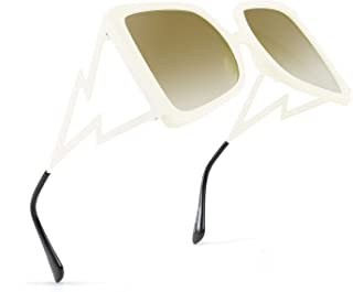 FEISEDY Fashion Oversized Square Women Sunglasses Large Frame Shades with Inspired Temples B9044