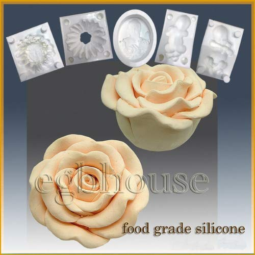 Learn More About Opening Night Hybrid Rose- Silicone Soap/Sugar/Fondant/Chocolate/Marzipan 3D Mold
