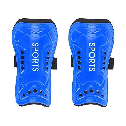 BLLBOO fußball schale-Ein Paar Kinder Fußball Shin Pads Trainingsbeinschützer Sicherheit Schutz verstellbare Riemen (blau)