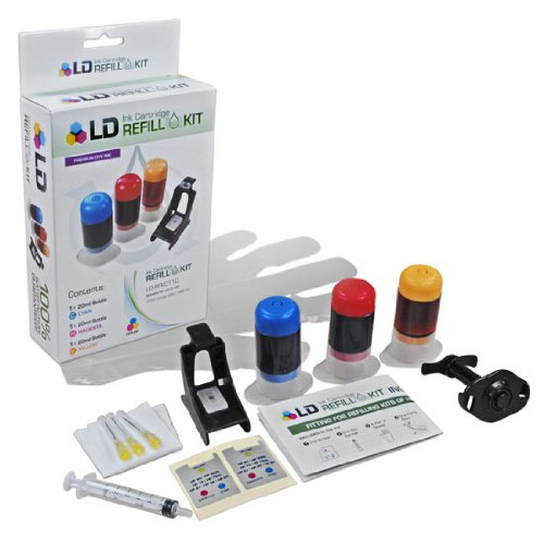 LD Ink Refill Kit for HP 60 & 60XL (Color)