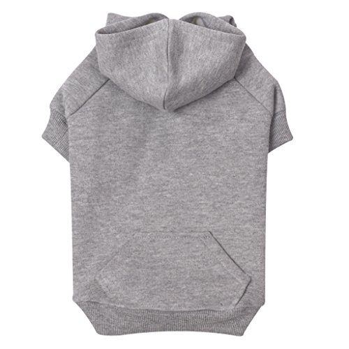 """Zack & Zoey Basic Hoodie for Dogs, 12"""" Small, Heather Gray Review"""