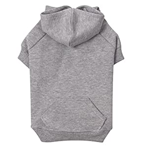 Zack & Zoey Basic Hoodie for Dogs, 20″ Large, Heather Gray