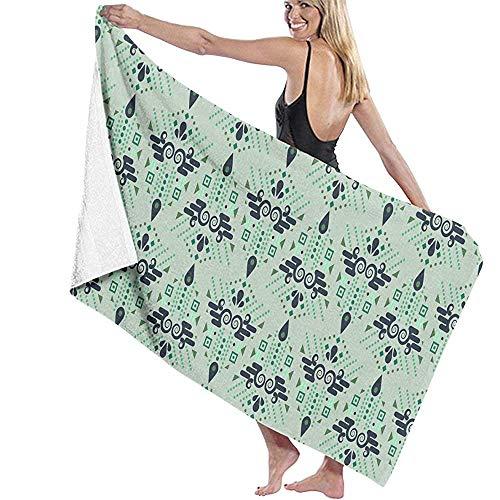 Etnische geometrische mintgroene zomer naadloze microvezel badhanddoek bad surf surf zwemmen super zachte super absorberende handdoek