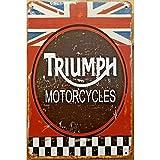 Triumph Motorrad rustikale Rennen Metall Zinn Zeichen Dekor