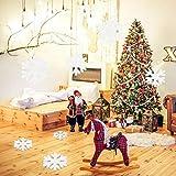 LEZED Holz Schneeflocken Anhänger für Weihnachten 100 STK Holz Schneeflocke Fensterdeko Mini Streuteile Schneeflocken Ausgehöhlten Schneeflocken Verzierungen für Winterliche Weihnachts Tischdeko 35mm - 3