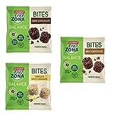 Enerzona Balance Bites Pack | 5X Dark Chocolate + 5X Milk Chocolate + 5X Vanilla & White Chocolate