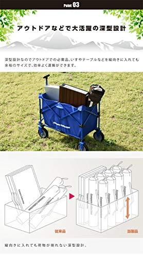 山善キャンパーズコレクションエブリデイキャリーレッド収納部約40×75cmEMC-80(RD)