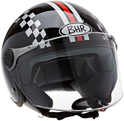 BHR Helm 710 Demi Jet Casco, Weiß, 55/56