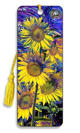 Artgame - Sunflowers - 3D Bookmark