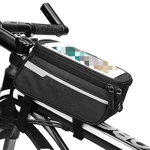 Bolsa de Bicicleta Equipo Ecuestre Bolsa de Tubo de sillín Ciclismo de montaña Bolsa Delantera de la Bicicleta Haz Bolso del Camino del Frente del Coche Bolsa de Marco (Color : B)