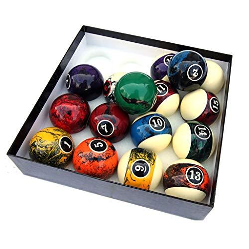 WXS Billard-Pool-Bälle Set Standard Große 57.2mm Bunte Kugel Fancy Sechzehn Farbe Billiard