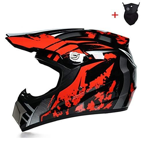 Qlkx Motocross Helm, Motocross Off Road Helmet, ATV Helm für Sicherheit Schutz, Unisex Motorradhelm,b,L