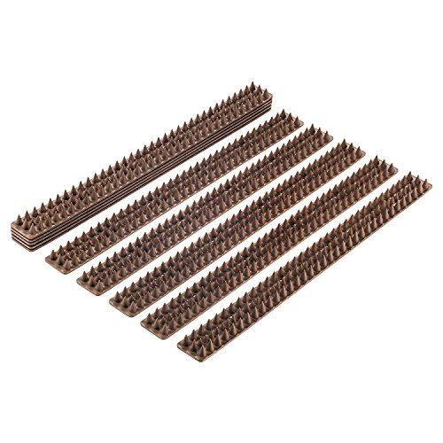 Bird Spikes - Set of 10 x 48.8 Cm Anti-climbing Security for Your Fence, Walls & Railings to Prevent...