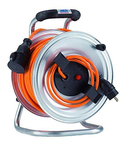 HEDI G2S50NTF010 Geräte-Kabeltrommel, 250 V, silber, schwarz