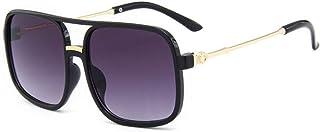 none_branded - None Marcas 3-9 años con marco cuadrado grande para niños y niñas con lentes de revestimiento, gafas de sol reflectantes para verano, gafas de sol para niños y niñas, con patas de metal