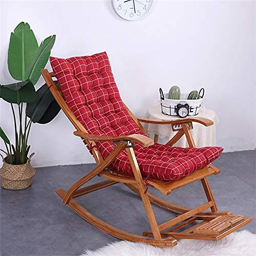 eewopjkj Lounger cushion High back support thick Extra large relaxing chair cushion Recliner cushion Rocking chair cushions Garden cushions-red-a 48x120cm