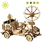 ROKR Solar Powered Toy Car-3D Puzzle de Madera Kits de Modelo - Juguetes Educativos con Energia Solar-Kit...