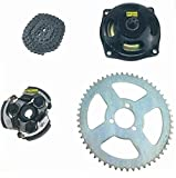 RV-Parts Kupplungsglocke Set - 6 Zähne T8F + Kupplung + Ritzel 54 Zähne T8F + 68 Kette T8F Rocketbike 49 CCM Dirtbike Kinder Motorrad Mini Quad