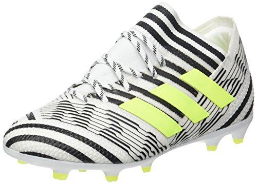 adidas Nemeziz 7 Fg J, Scarpe da Calcio Unisex-Bambini, Bianco (Footwear White/Solar Yellow/Core Black), 37 1/3 EU