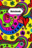 Notebook: Cute Colorful Pop Art Design College Ruled Lined Pages