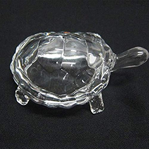 Turtle Animal Figurine Fengshui Crystal Tortoise Turtle Glass Statue for Peace & Prosperity, Glass Turtle for Good Health Gift Lucky Gift for Your Loved One