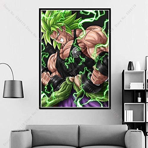 shuimanjinshan Reise Gohan Goku II Vegeta Dragon Ball Japan Anime Poster Druck Gemälde Wandkunst Leinwand Bild Home Wohnzimmer Dekor 50x70CM No Frame H-1347