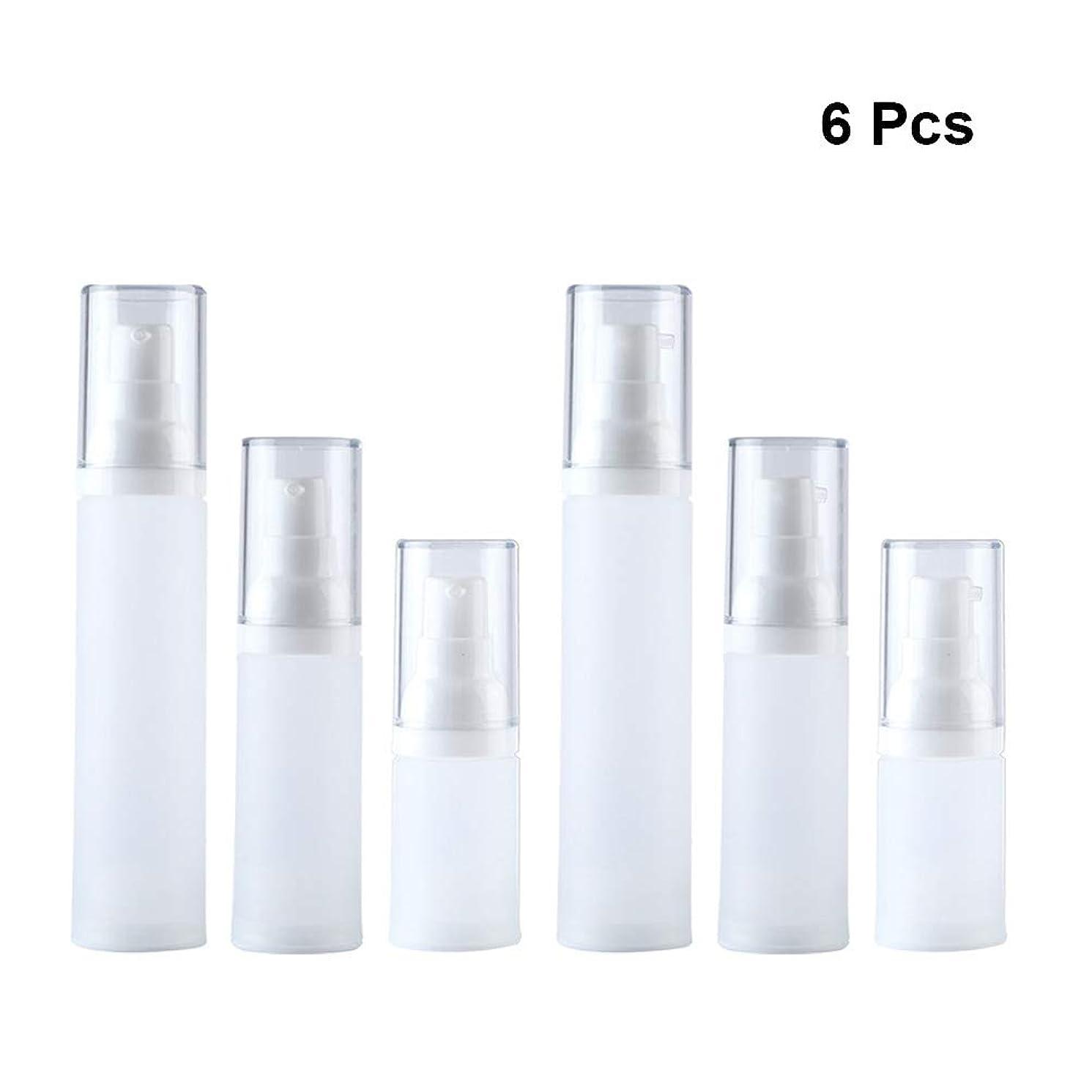 収束だらしないの量Lurrose 6ピーススプレーボトルリークプルーフ詰め替えスクイーズポンプボトル用旅行化粧品香水