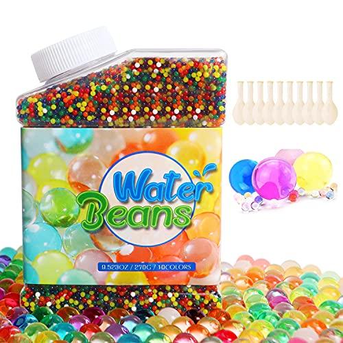 Perlas de Agua 50,000 Piezas Cuentas de Suelo de Cristal Cuentas de Suelo de Gel Cuentas de Barro de Suelo Coloridas Bolas de Agua de Cristal para Plantas de Florero, Decoración Hogareña