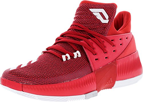 adidas Men's Dame 3 Basketball Shoe Red/White/Grey Size 9 M US