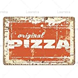 Tin Sign Board Vintage Poster Gourmet Pizza Metal Sign