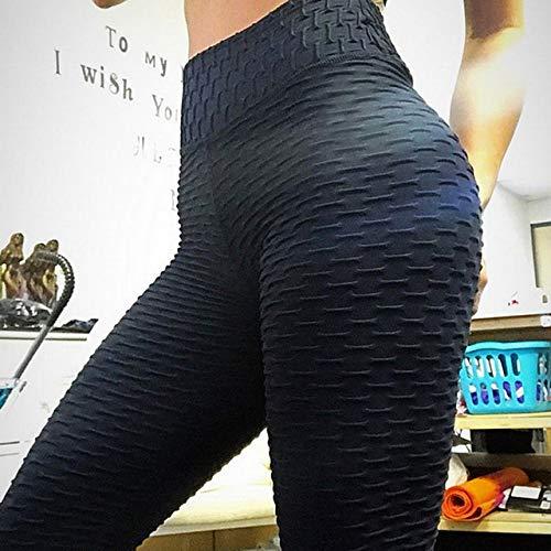 QingYu - Fitness-Dreiviertel-Hosen für Mädchen in black, Größe XL