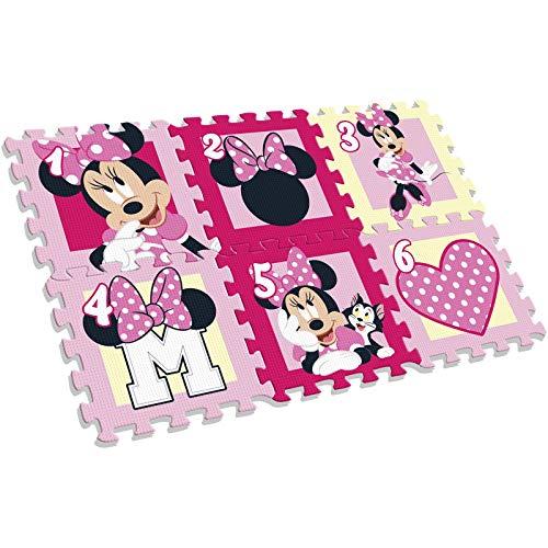 Kids Licensing Minnie Maus Spielmattenpuzzle (6 Teile, Moosgummi)
