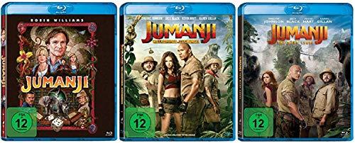 Jumanji + Jumanji: Willkommen im Dschungel + Jumanji: The Next Level [Blu-ray Set] Jumanji 3er Pack