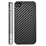 REY Protector de Carbono Trasero para iPhone 4 / iPhone 4S, Protección Carcasa Trasera