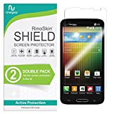 (2-Pack) RinoGear Screen Protector for LG Lucid 3 Case Friendly LG Lucid 3 Screen Protector Accessory Full Coverage Clear Film