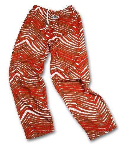 Zubaz San Francisco 49ERS Team Color Zebra Pants, Red Metallic Gold (X-Small)
