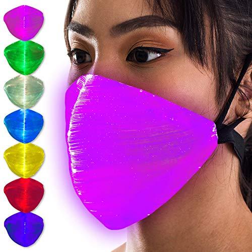 LED Light Up Mask - Rave EDM Halloween Masks For Men & Women
