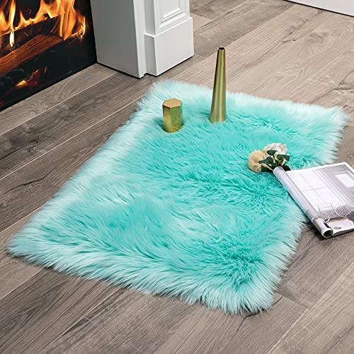 Alfombras De Habitacion Azul Turquesa alfombras de habitacion  Marca MIULEE