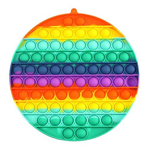 Juguete Antiestrés Sensorial de Explotar Burbujas Push Pop Bubble Fidget Toy Herramientas para aliviar el estrés y la ansiedad para niños y Adultos
